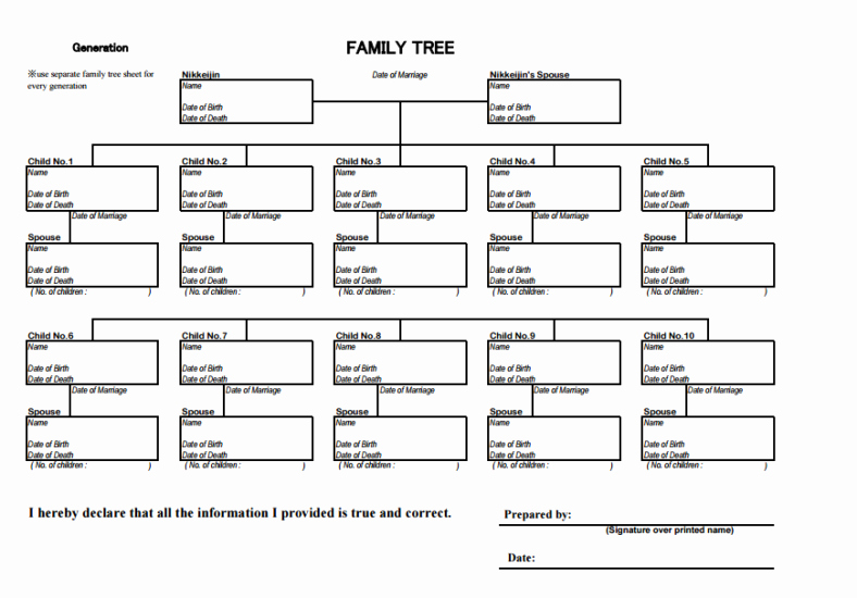 10 Generation Family Tree Luxury 11 10 Generation Family Tree Templates Pdf