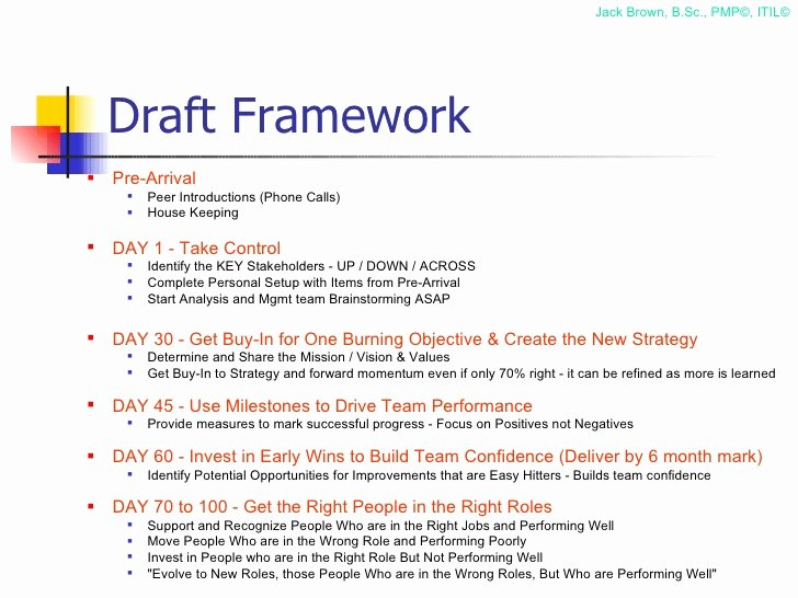 100 Day Plan Template Elegant 100 Day Plan for Directing A Pmo