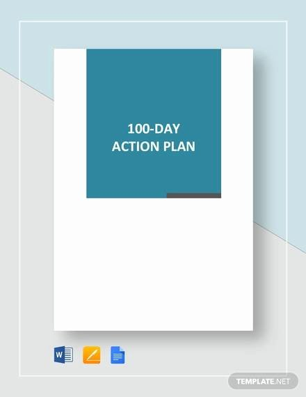 100 Day Plan Template Inspirational Free 11 100 Day Plan Templates In Pdf
