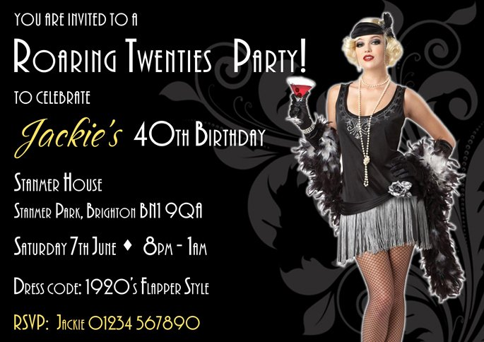 1920s Invitation Template Free New Calling All Lovers Of 1920s Vintage