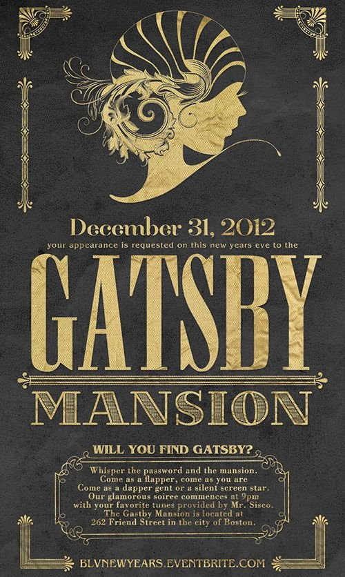 1920s Invitation Template Free New Gatsby House