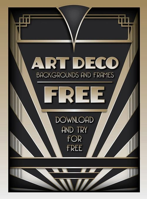 1920s Invitation Template Free Unique Download and Try the Best Selling Art Deco Backgrounds and