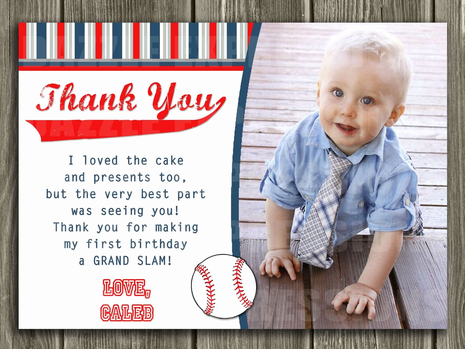 1st Birthday Thank You Cards Luxury Baseball Thank You Card Printable $10 00 Via Etsy Joey S 1st Birthday