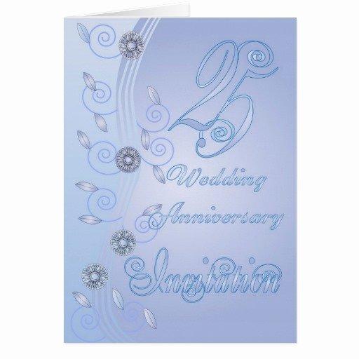 25th Wedding Anniversary Invitation Cards Fresh 25th Wedding Anniversary Invitation Card
