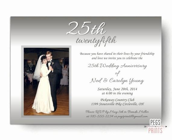 25th Wedding Anniversary Invitation Cards Luxury 25th Wedding Anniversary Invitations Silver Wedding