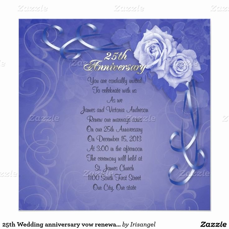 25th Wedding Anniversary Invitation Cards Unique 1000 Images About 25th Anniversary Invitations Customized On Pinterest