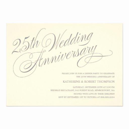 25th Wedding Anniversary Invitation Cards Unique 25th Anniversary Invitations Anniversary Party Invitations Pinterest