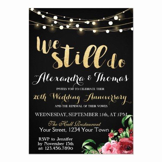 25th Wedding Anniversary Invitations Templates Awesome 25th Wedding Anniversary We Still Do Anniversary Invitation