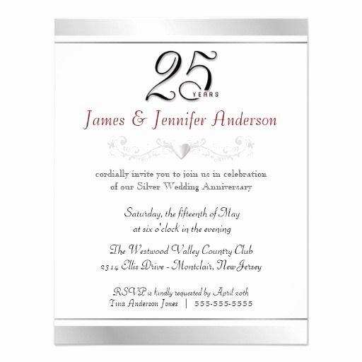 25th Wedding Anniversary Invitations Templates Awesome 9 Best 25th & 50th Wedding Anniversary Invitations Templates Images On Pinterest