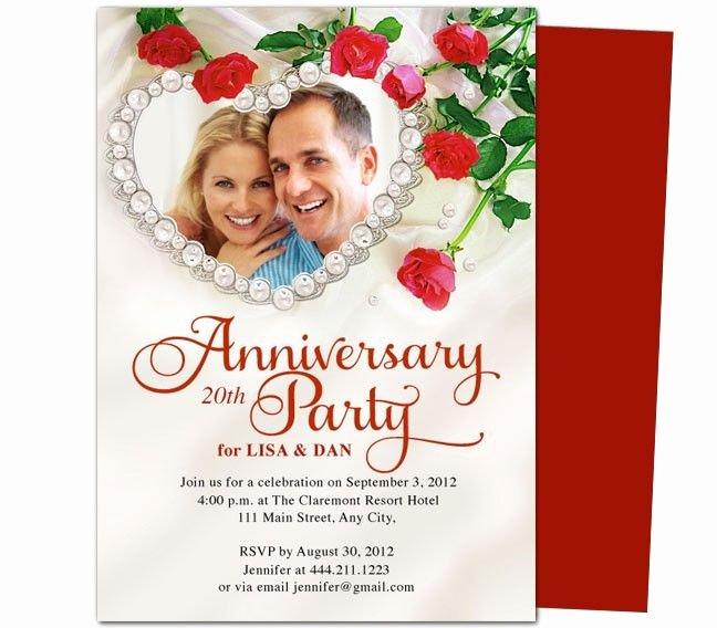 25th Wedding Anniversary Invitations Templates Awesome 9 Best Images About 25th & 50th Wedding Anniversary Invitations Templates On Pinterest