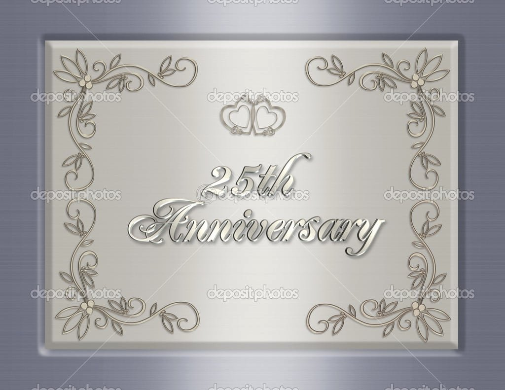 25th Wedding Anniversary Invitations Templates Beautiful 25th Anniversary Invitation Template