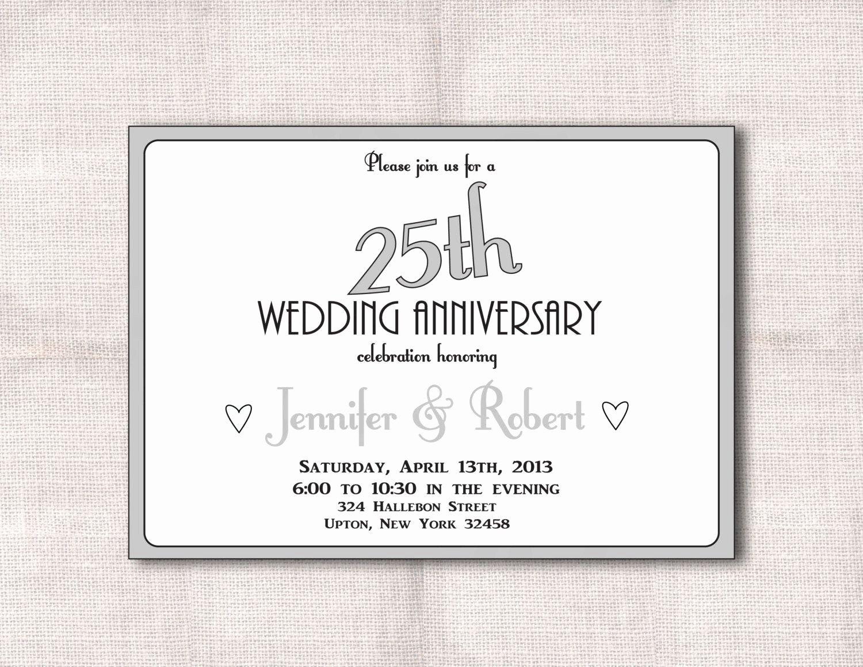 25th Wedding Anniversary Invitations Templates Best Of Surprise 25th Wedding Anniversary Invitation Templates Wedding Invitations