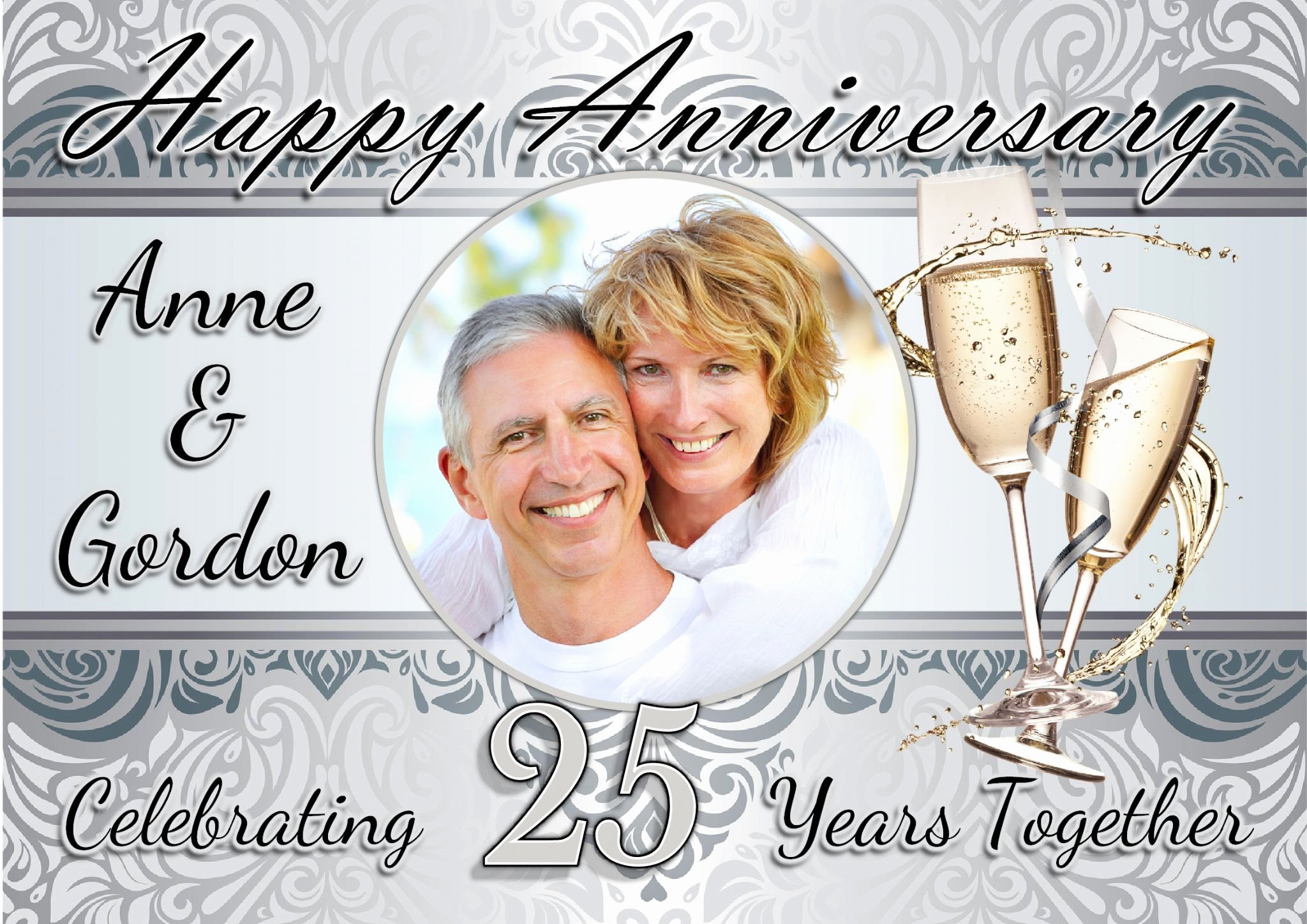 25th Wedding Anniversary Invitations Templates Elegant 25th Wedding Anniversary Invitations Templates Free Wedding Invitations