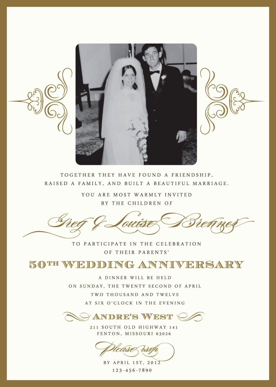 25th Wedding Anniversary Invitations Templates Elegant 25th Wedding Anniversary Invitations Templates