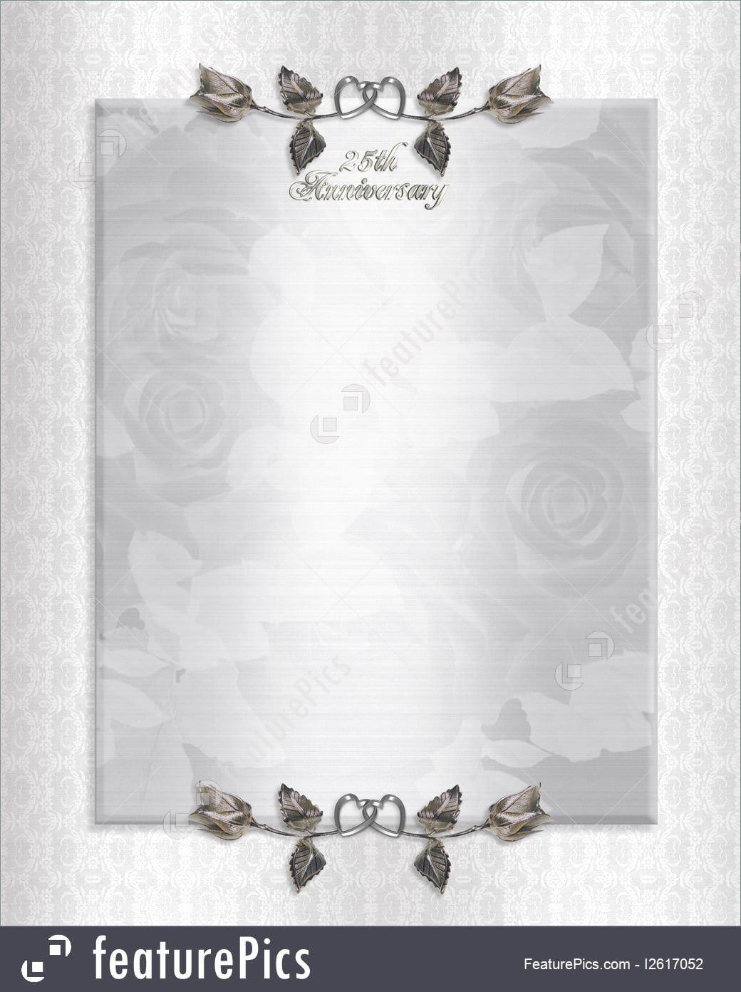 25th Wedding Anniversary Invitations Templates Fresh Silver Wedding Anniversary Invitations Templates
