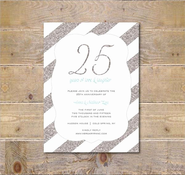 25th Wedding Anniversary Invitations Templates Inspirational 10 Anniversary Invitation Templates Premium and Free Pdf Download