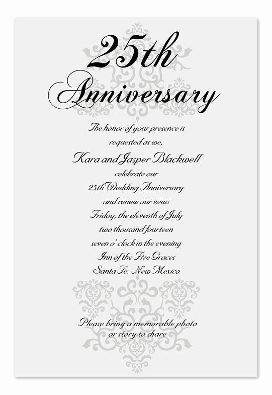 25th Wedding Anniversary Invitations Templates Luxury Elegant Anniversary Anniversary Invitations by Invitation Consultants Ic Rlp 30