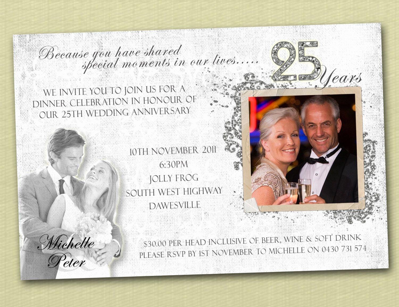 25th Wedding Anniversary Invitations Templates New Anniversary Invitations Anniversary Invitations Ideas Invitations Template Cards