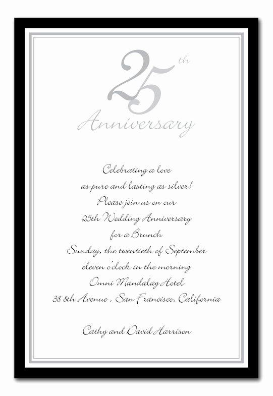 25th Wedding Anniversary Invitations Templates Unique 25th Anniversary Invitations Google Search 25th Anniversary Ideas Pinterest