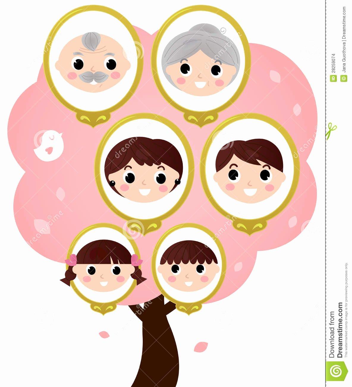 3 Generation Family Trees Elegant Three Generation Family Tree Stock Vector Illustration Of Beauty Classical
