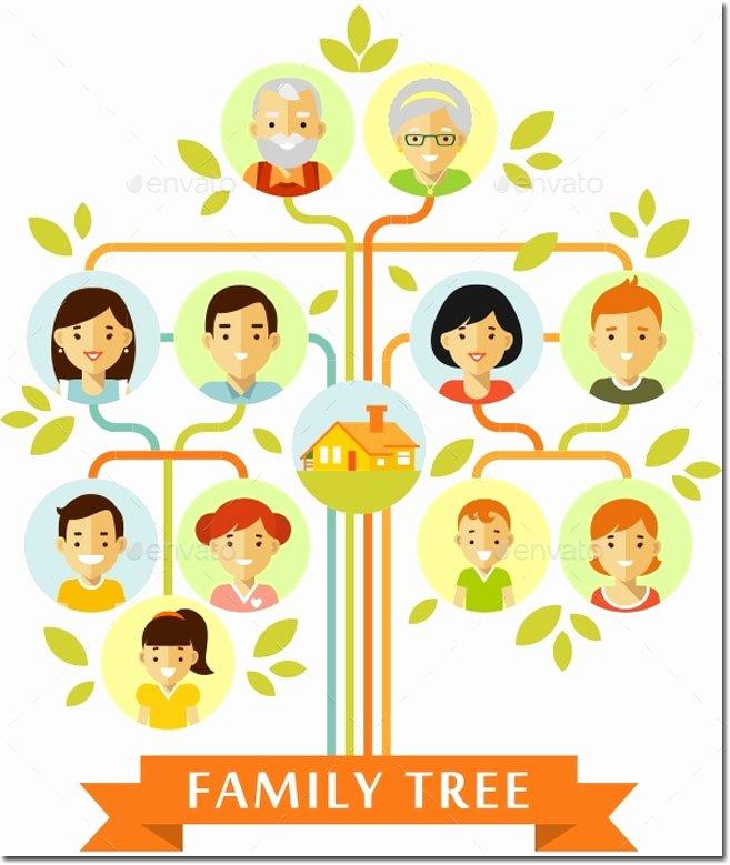 3 Generation Family Trees Fresh 20 Family Tree Templates & Chart Layouts