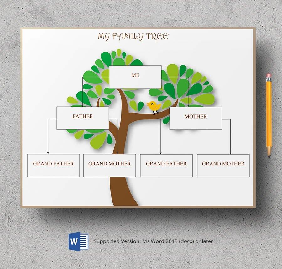 3 Generation Family Trees Fresh 8 Free Family Tree Templates Three Generation Inversed