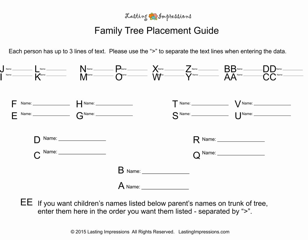 3 Generation Family Trees Inspirational Personalized 4 Generation Family Tree – Lasting Impressions for Paper