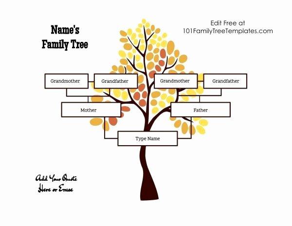 3 Generation Family Trees Luxury Free Family Tree Family Tree Templates