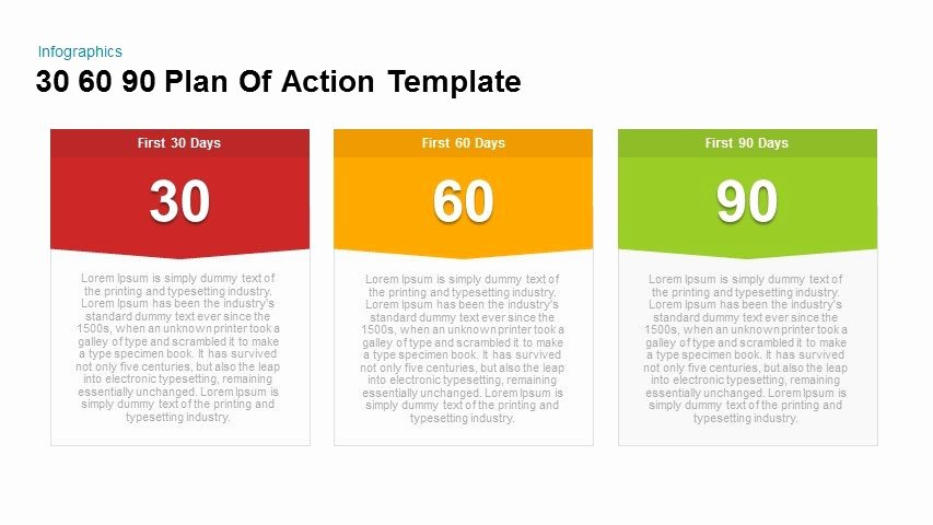 30 60 90 Day Template Inspirational 30 60 90 Plan Action Powerpoint and Keynote Template