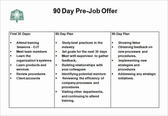 30 Day Plan Template Best Of 12 30 60 90 Day Action Plan Templates Word Pdf Apple Pages