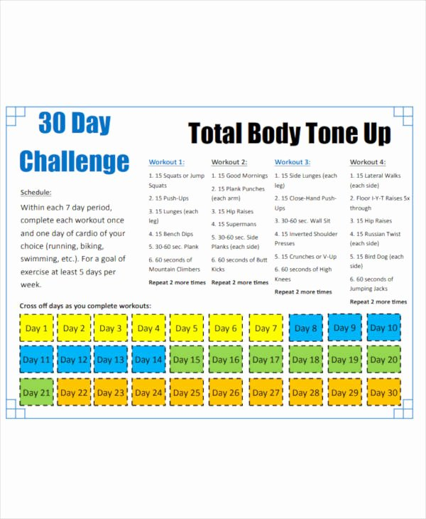 30 Day Plan Template Fresh 9 30 Day Workout Plan Templates Pdf Word