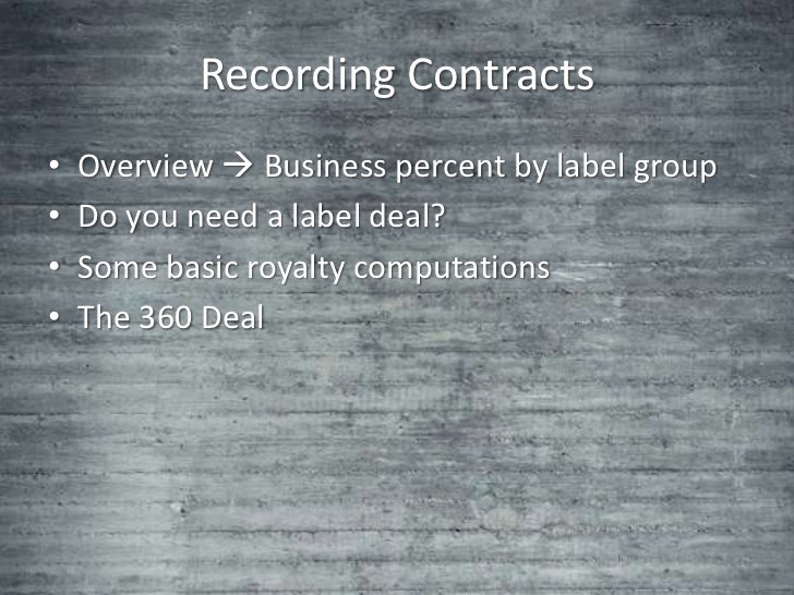 360 Deal Contract Pdf Best Of Lecture Notes Record Contracts