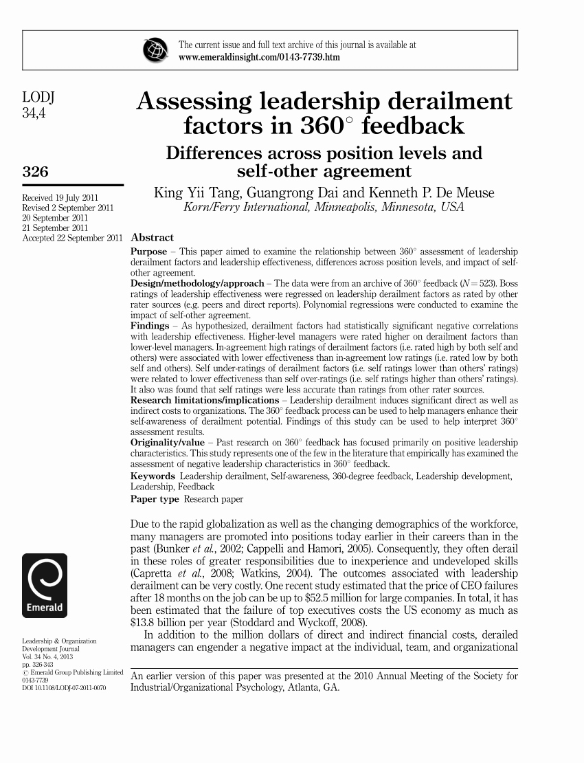 360 Deal Contract Pdf Lovely Pdf assessing Leadership Derailment Factors In 360