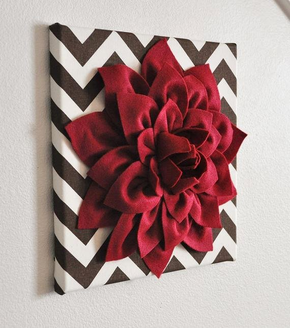 3d Canvas Wall Art Awesome Flower Wall Decor Cranberry Dahlia Mum On Brown and Natural