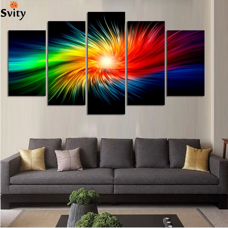 3d Canvas Wall Art Best Of Color Painting Canvas Modern 3d 5 Piece Abstract Wall Art Oil Picture Home Decoration for Living