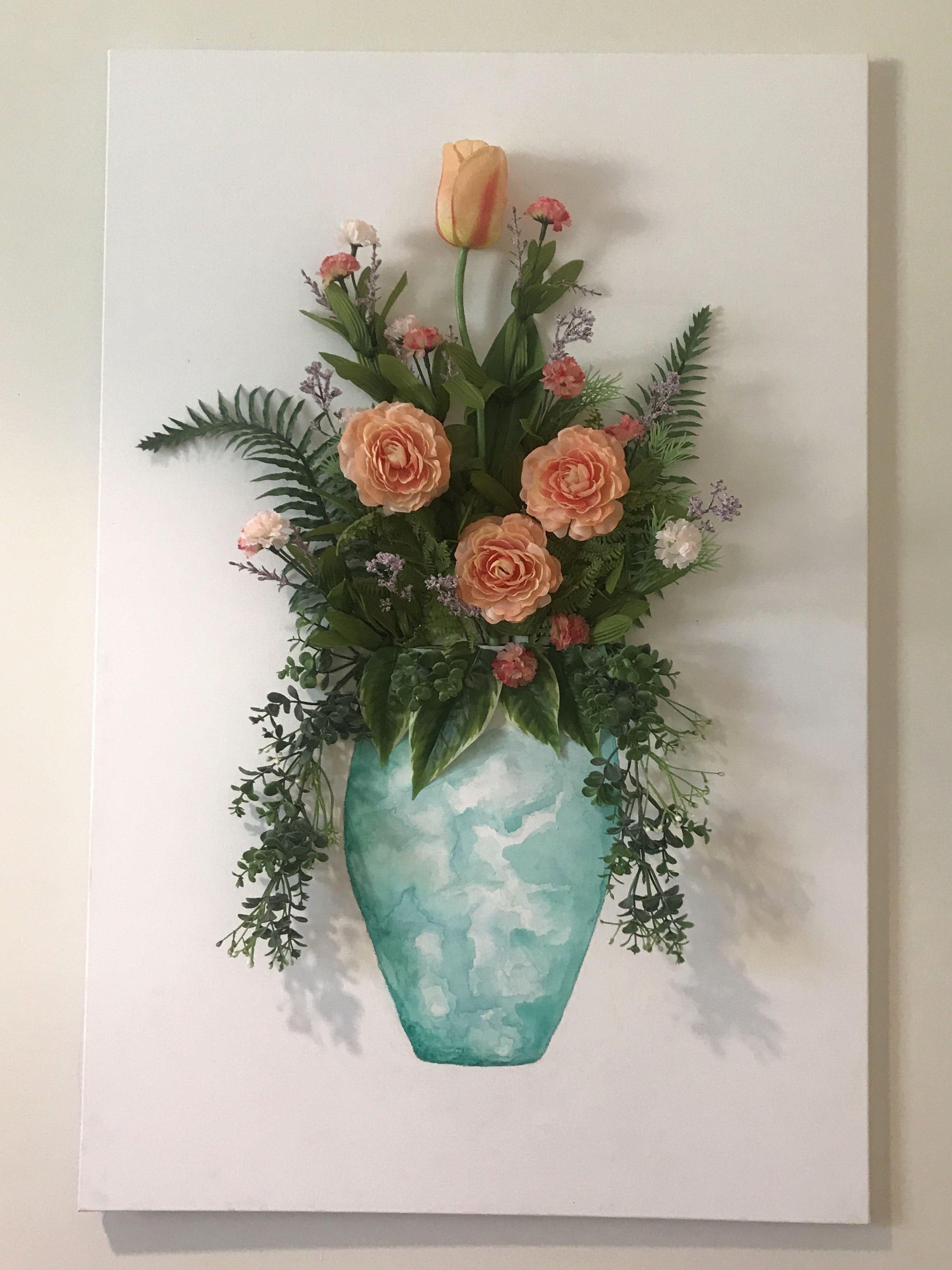 3d Canvas Wall Art Inspirational Diy 3d Artificial Flower Wall Art Diy Summer 18