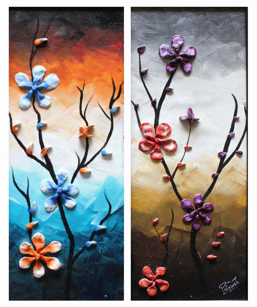 3d Paintings On Canvas Beautiful Buy 3d Flowers Handmade Painting by Priyansh Thakkar Code Art 2841 Paintings for Sale