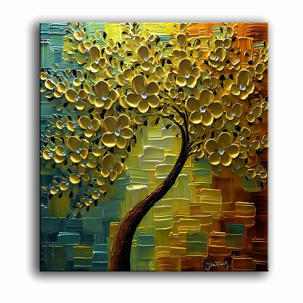 3d Paintings On Canvas Elegant Yasheng Art 3d Oil Paintings Canvas Golden Flowers Tree Paintings Abstract