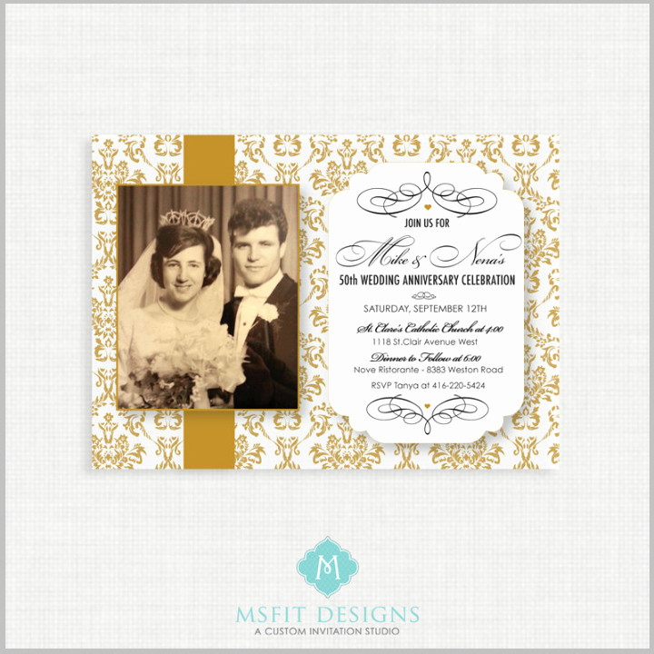 50th Anniversary Invitation Template Fresh 32 50th Wedding Anniversary Invitation Designs & Templates Psd Ai