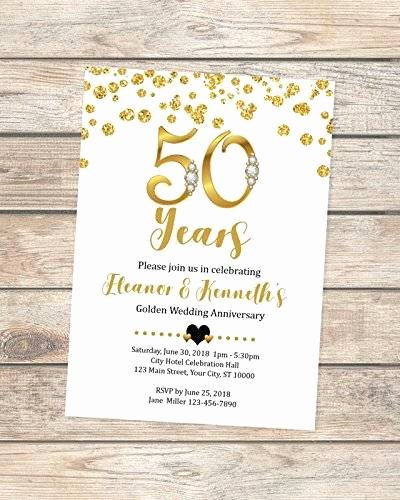 50th Anniversary Invitation Template Fresh Amazon 50th Wedding Anniversary Invitation Black and Gold 50th Anniversary Invitation