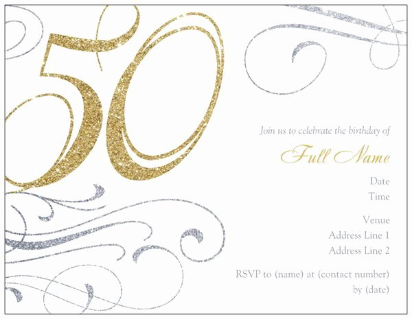 50th Anniversary Invitation Template Fresh Template for 50th Birthday Invitations Free Printable