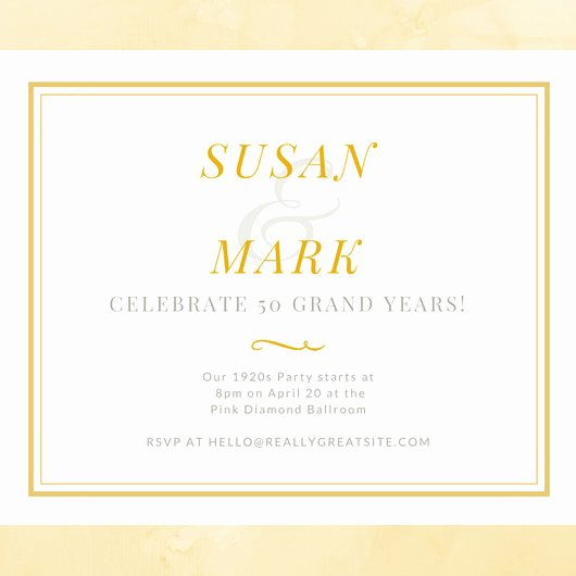 50th Anniversary Invitation Template Lovely White and Gold Simple 50th Wedding Anniversary Invitation Templates by Canva