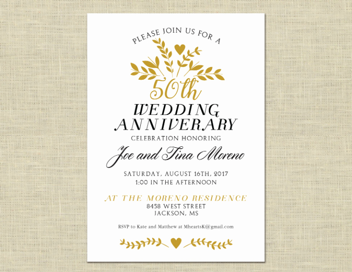 50th Anniversary Invitation Template Luxury 32 50th Wedding Anniversary Invitation Designs & Templates Psd Ai