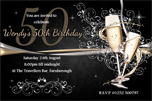 50th Anniversary Invitation Template Luxury 45 50th Birthday Invitation Templates – Free Sample Example format Download