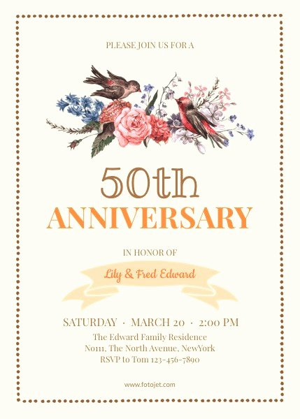 50th Anniversary Invitation Template Luxury Free 50th Wedding Anniversary Invitations Templates