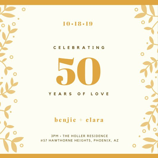50th Anniversary Invitation Template New Customize 1 796 50th Anniversary Invitation Templates Online Canva