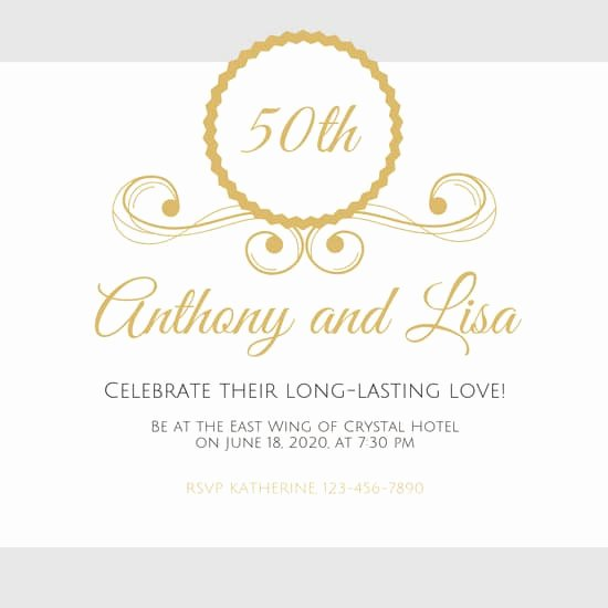 50th Anniversary Invitation Template Unique Customize 388 50th Anniversary Invitation Templates Online Canva