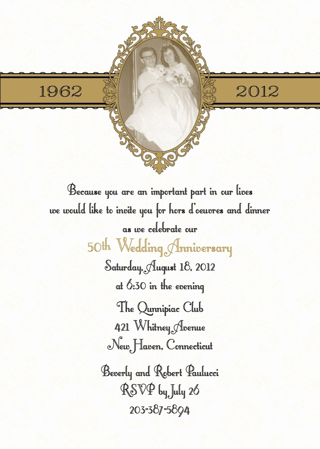 50th Anniversary Invitation Templates Beautiful 50th Anniversary Invitation Template