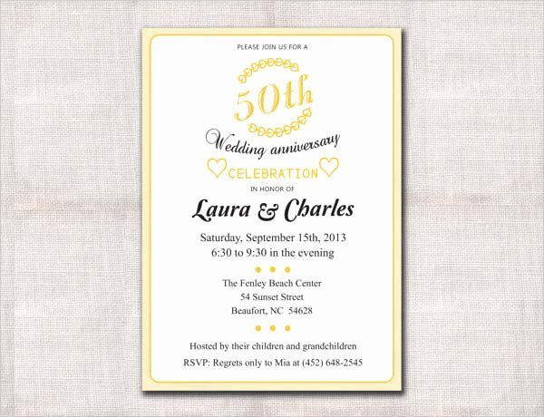 50th Anniversary Invitation Templates Best Of 50 Anniversary Invitation Templates
