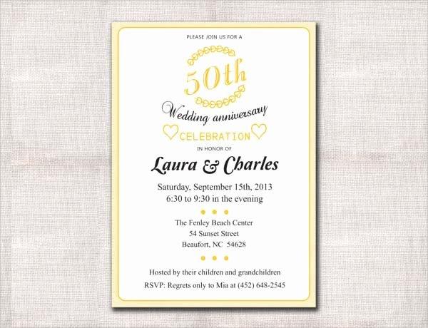 50th Anniversary Invitation Templates Best Of 50 Anniversary Invitation Templates
